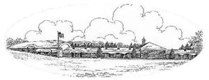 a small etching of the school